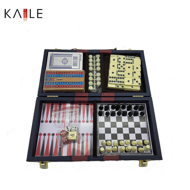 6 in 1 game set with leather box
