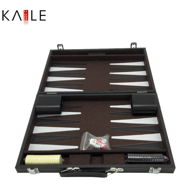 Backgammon  set with leather box