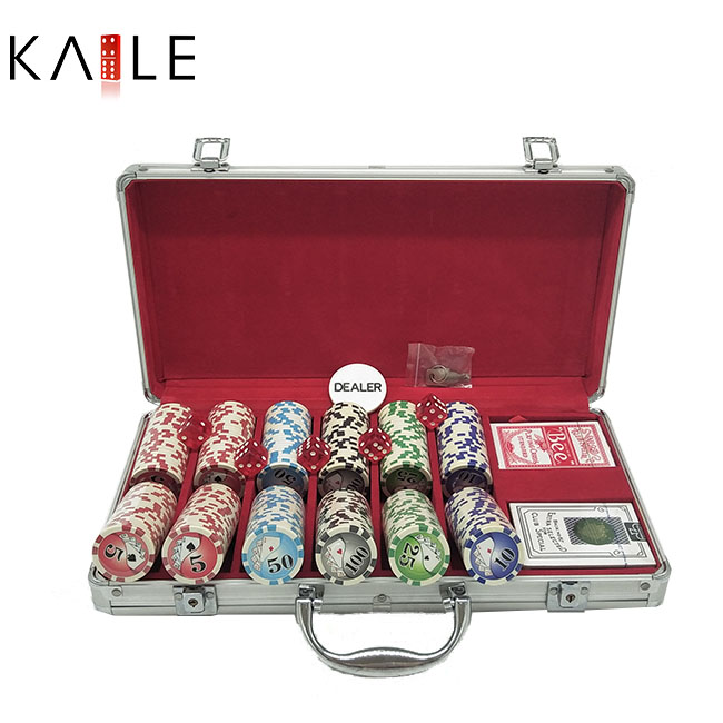 300 piece poker chip set in aluminum case