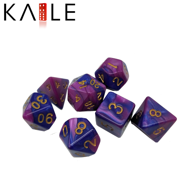 Double Color Polyhedral Dice
