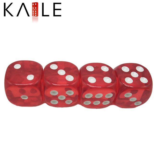 Hot with white dots dice