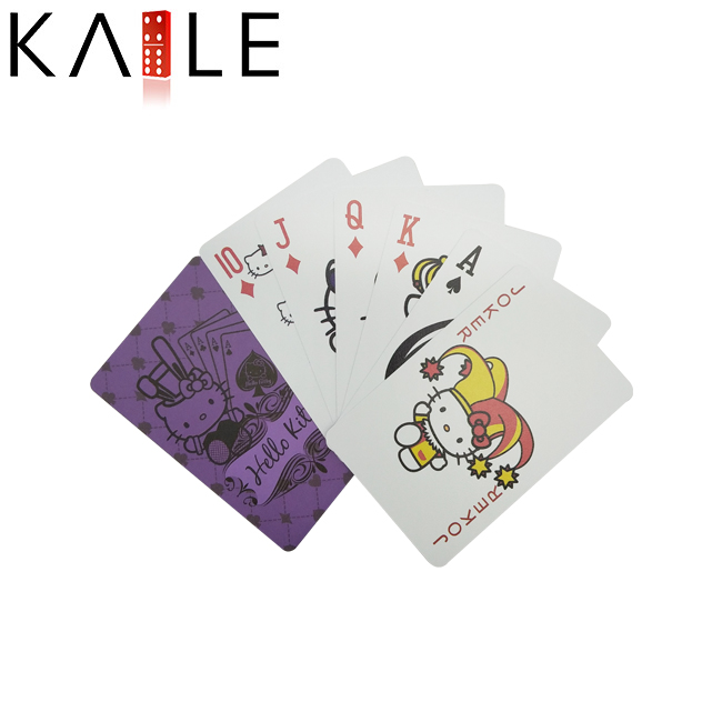 Educational Cartoon Plastic Playing Card Set for Kids