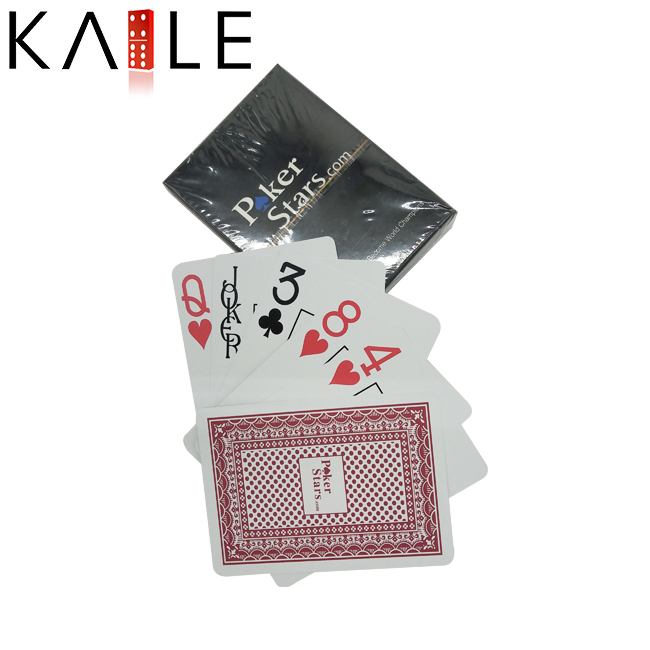 Promotional Standard Black Plastic Playing Cards