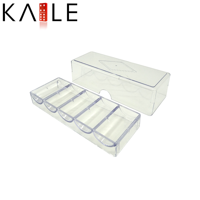 100pcs Acrylic poker chip tray